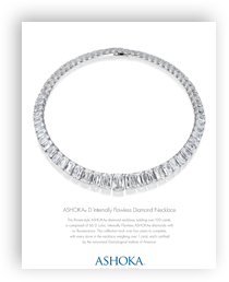 April 2013 - ASHOKA D Internally Flawless Diamond Necklace